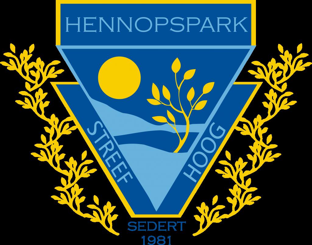 LAERSKOOL HENNOPSPARK SKOOLWAPEN en kleure