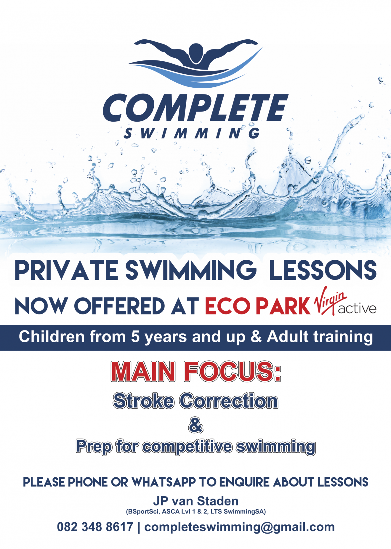 Complete Swimming flyer